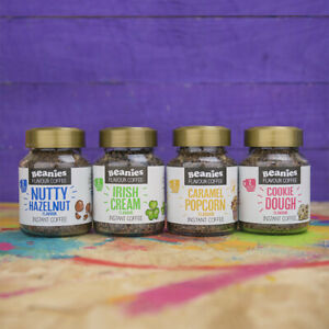 BEANIES Flavoured Instant Coffee | Caff/Decaf/Barista/Festive Flavors | 50g Jars