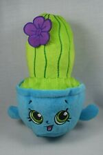 """Shopkins Prickles the Cactus Soft Plush Beanbag Stuffed Toy 7"""" Blue and Green"""