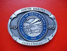 1989 State of South Dakota Great 1889 Seal, Centennial Limited Edit. Belt Buckle