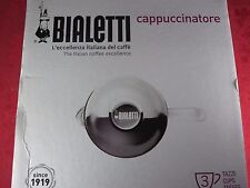 Bialetti Cappuccinatore 3 cup Cappuccino Maker Milk Frother Glass Whip Frothy