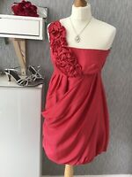 Spotlight by Warehouse Size 10 (38) One Shoulder Puffball Dress in Raspberry