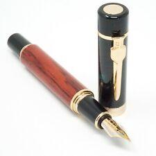 Jinhao #650 Wood Fountain Thick & Heavy Pen, MEDIUM Nib Gold Trim - UK SOLD!