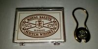 Never Used Royal Salute Blended Scotch Whisky Secur-A-Key 24 KT. Gold-Plated