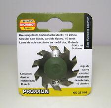 Proxxon 28016 - Lama con denti in metallo duro, 10 denti. Diametro 50 mm.