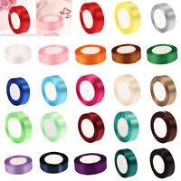 25Yards Satin Ribbon 25mm Wedding Craft Bows Supplies DIY Party Decor 23 Colors