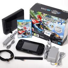 Nintendo Wii U Konsole Premium Pack 32 GB Schwarz Spiel Mario Kart 8 in OVP
