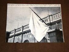 Fascismo in Italia Fiume 3 marzo 1922 Riccardo Zanella espone bandiera bianca