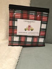 NEW Cynthia Rowley Holiday Plaid Queen Sheet Set 4 Pc Bedding Microfiber