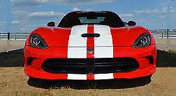 GLOSS WHITE (A2) Twin Body Stripes Viper Style 4m x 10cm fits ASTON MARTIN