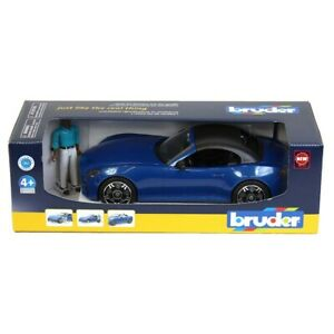 BRUDER #03481 Blue Roadster with Driver NEW!