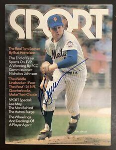 Tom Seaver Signed Sport Magazine NO Label JSA Aug 1972 Newsstand Mets Autograph