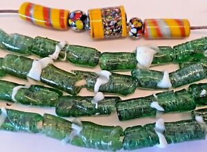 VINTAGE AFRICAN GLASS TRADE BEADS