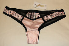 Playboy Intimates Ladies Shapeup Pink Black Brazilian Brief Size 10 New