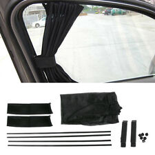 Black Universal  Mesh Interlock VIP Car Window Curtain Sunshade Visor UV Block