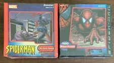NEW (2) Marvel Spider-Man 100 Piece Full Size Puzzle Sets by Pressman 2002  2003