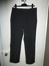 ZARA WOMAN  EUR 36  30W 26.5L BLACK CROP/ANKLE GRAZER  TROUSERS