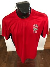 Mens Large Rugby Jersey Short Sleeve Shirt Rugby Football Union England