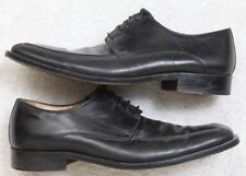 Pronto Uomo Black Men's Square Toe Dress Shoes 10 Ten Solid Leather Upper Italy