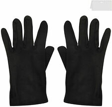 Mens & Ladies 100% Cotton Clown Magician Scream Santa Short Gloves Black ,White