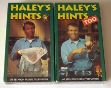 Lot of 2 NEW & Sealed VHS Tapes: Graham Haley's Hints 1 & 2 Cleaning Ideas