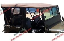 STITCHED CANVAS SOFT TOP JEEP WILLYS MB GPW 1941-47,BROWN,OD GREEN,BLACK,KHAKI