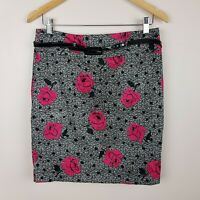 Review Pencil Skirt Size 10 Floral Print with Belt