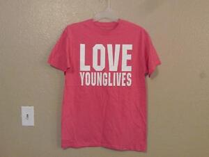 New- Love Young Lives Mens Adult Size L Large T-shirt