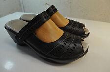 Jambu J-41 Touring Too Sport Wedge Sandals Black Leather Women 8.5 M