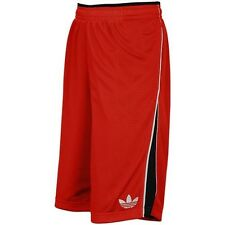 Adidas Basket Ball Mesh Shorts Red Sz L NWT