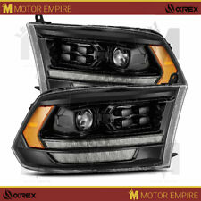 AlphaRex Black PRO Projector Headlights w/ Converter For 2009-2018 Ram 2500