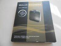 Solar Charger Portable 2200 MAH Solar Battery 3 in 1 USB Cable New in Box