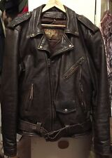 """Vintage LEATHER GALLERY """"LIVE TO RIDE"""" Motorcycle Biker Leather Lining Jacket."""