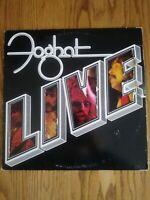 FOGHAT LIVE - 1977 BEARSVILLE RECORDS LP (BRK 6971) - (VG/VG)