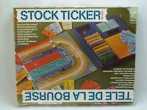Stock Ticker Deluxe 1970's Board Game Copp Clark Complete Bilingual Very Rare