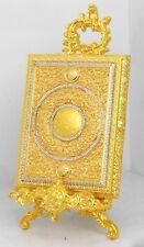 Islamic Muslim Gold Quran box with rhinestone / Home decorative
