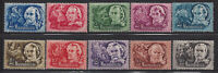 HUNGARY - 1948. AIR - Writers / Portraits Cpl.Set MNH!! Mi 1023-1032.