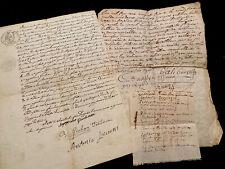 Three Paper Documents Lot 1600 - 1800s