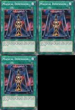 Magical Dimension YGLD-ENB21 1st (Mint X 3) YUGIOH Common Quick-Play Spell Cards