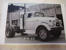 1955 GMC SLEEPER CAB AN CHASSIS   11 X 17  PHOTO  PICTURE