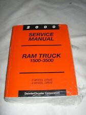 2000 DODGE RAM 1500 2500 3500 Truck SERVICE MANUAL SHOP REPAIR ALSO COVER DIESEL