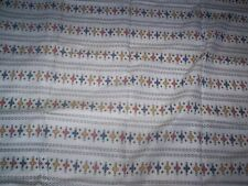 dressmaking craft material white stripe design with red blue yellow pattern