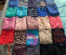 25 PC lot Womens Sz Medium Mint Cond Tops Sweaters Hoodies Wholesale Resale Bulk