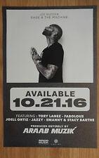 Music Poster Promo Joe Budden - Rage & The Machine