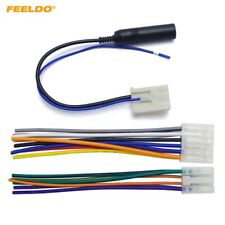 FEELDO Car Audio Stereo Wiring Harness Plug With Antenna Adapter For Toyota