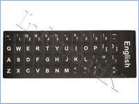 Adesivi Neri Etichette Lettere per Tastiera Inglese Stickers Black Keyboard UK