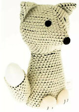Knitted Cream Fox Animal Shape Weighted Home Decorative Doorstop Stopper