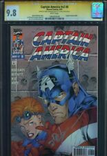 Captain America #8 V2 CGC 9.8 SS Jim Lee