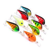 Fishing Lures 11.2cm/9.5g Crank Baits Crankbait Tackle Bass 3D Eye Hook BH
