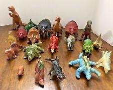 Dinosaur figure Toy Plastic Viny Lot Of 20 Triceratops Brontosaurus Stegosaurus
