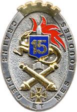 15° Régiment d'Artillerie, ovale, dos doré, 2 pontets, Boussemart 3766 (6654)